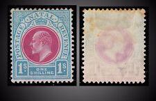 1904 -1908 KING EDWARD VII VALUE 1 SHILLING PALE BLUE SG. 155 , SCT. 106 MINT H