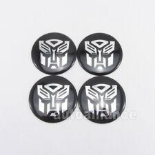 4pcs 56mm Transformers Autobot Wheel Center Hub Cap Emblem Badge Decal Sticker