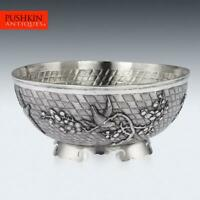 ANTIQUE 20thC CHINESE EXPORT SOLID SILVER BOWL, SINGFAT c.1900