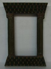 Vintage Old Painted Wooden Picture Photo Mirror Frame Collectible