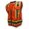 SV55-2ZOD Type R Class 2 Heavy Duty Two-Tone Engineer Safety Vest - Orange
