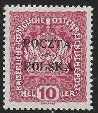 Poland stamps 1919 MI 32 signed  MLH  VF