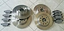 SAAB 9-3  02-- TWO FRONT VENTED AND TWO REAR SOLID BRAKE DISCS & BRAKE PADS L& R