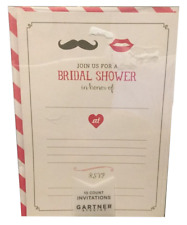 Bridal Shower Wedding Invitations 10 Count by Gartner Studios Lips Moustache