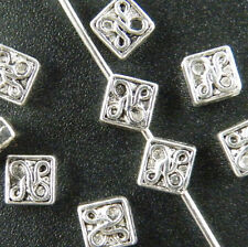 100pcs Tibetan Silver Little Square Spacer Beads 5x5mm 139