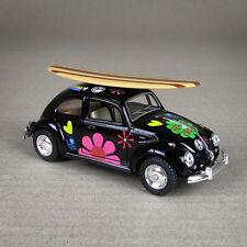 1967 Volkswagen Beetle Bug Surfboard Hippy Model Car Die-Cast 1:32 Scale Black