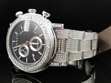 "Custom Mens New Gucci ""G"" Chrono 101 G 14 CT Black and White Diamond YA101331"