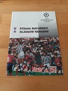 Steau Bucharest V Rangers - Champions League Group Stage - 1995/96