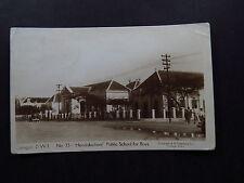 Postcard Curacao Hendrikschool Public School for Boys Cristobal Paquebot 1933