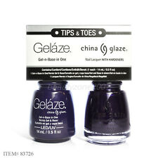 China Gelaze Tips & Toes Gel Polish & Matching Lacquer 83726 Up All Night 0.5oz