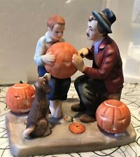 New ListingNorman Rockwell inspired Gorham Porcelain Figurine Ghostly Gourds #1502