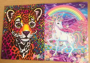2 Pack Lisa Frank Folders Tiger Cub Hunter And Mischief horse Unicorn