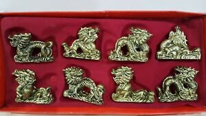 8 Gold Chinese Mini dragon in retail packaging Chinese New Year Gift