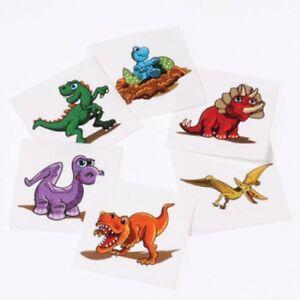 Dinosaur Cartoon Mini Temporary Dino Tattoos 36 pcs Birthday Party Bag Prize