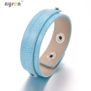PU Leather Charms Bangle Bracelet Multi Color DIY Bracelet Jewelry 0370
