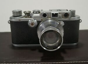 Vintage 1936 Black/Chrome Leica IIIa Model G 35mm Film Camera s/n 204089