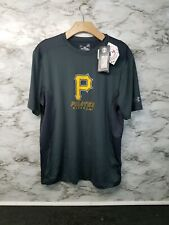 Under Armour Heat Pittsburgh Pirates MLB Gray Short Sleeve L T-Shirt Men's  #O
