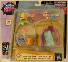 Littlest Pet Shop Pets in the City Smiles at the Shore LPS # 242 243 244 Playset