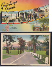 Vintage Postcard Lot GREETINGS FROM DELAWARE & St Johnsbury Vermont