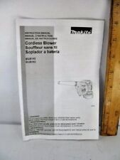 Makita Cordless Blower Instruction Manual