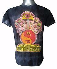 Yoga men t shirt short sleeve Cotton Magic Mushrooms Music Hippie New Om Sure L