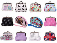Childrens Kids Ladies Small Coin Cards Purse Small Make Up Bag - 27 Choices