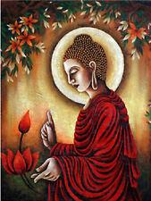 Full Drill Diamond Painting Buddha Sakyamuni Flower Cross Stitch Embroidery 8508