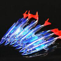 Lot Soft Fishing Lures Minnow Hard Luminous Crank Bait Night Fish Popper Hooks