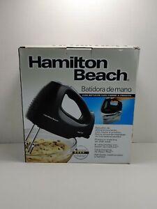 Hamilton Beach 6-Speed Hand Mixer with Snap-On Case Black