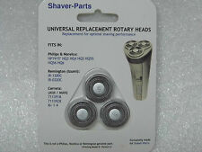 Lot de 3 têtes de rasoirs compatibles HQ3,HQ4,HQ5,HQ55,HQ56,HQ6 pour PHILIPS