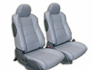 NISSAN 350Z 2007-2009 GREY IGGEE S.LEATHER CUSTOM MADE FIT SEAT COVERS