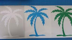 Palm Tree Vinyl Decal Tropical Island Beach Multiple Sizes & Colors
