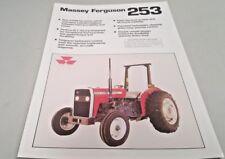 1990 MASSEY FERGUSON 253 TRACTOR Australian  Sales Leaflet