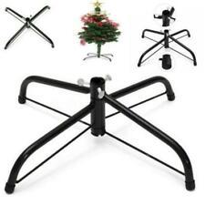 Folding 4 Feet Base Christmas Tree Stand Cast Iron Metal Holder Decor LC