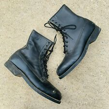 Addison Men's Steel Toed Black Army Boots size 10 leather lace up military army
