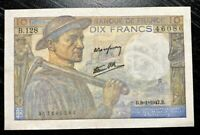 FRANCE 1947 10 FRANCS BANKNOTE-ALMOST UNC!