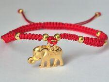 Lucky Red String Feng Shui Gold Elephant Adjustable Shamballa Bracelet Fashion