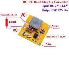3A DC-DC Boost Regulator Step Up Volt Converter 3V 3.7V 4.2V 5V 6V 7V 9V to 12V
