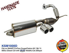 Exhaust Muffler for SMART ForTwo 451 0.8cc Diesel CDi '08-'10 with HJS Cat