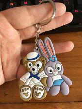 cute couple bear sitting silica gel key chain key chains ornament cartoon new
