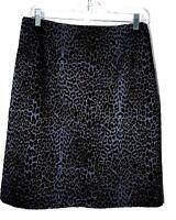 Wildlife Sportswear Velvet FLOCKED Cheetah/Leopard Print Skirt-10, black  NICE!