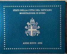 Monete divisionali 2005 Città del Vaticano FDC BU Set Raro Originale