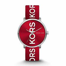 NIB Michael Kors Unisex Charley Three-Hand Silver-Tone Alloy Watch MK2827