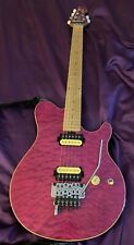 Sterling by Musicman AX40 (Purple) Electric Guitar with Upgrades, Gig Bag, Strap