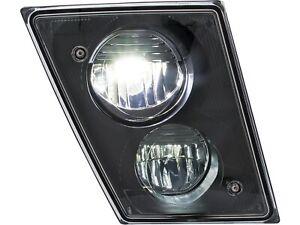 Volvo VNL LED Fog Light Black/Chrome Housing 2003-2015 PAIRS (Left+Right)