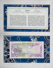 *Most Treasured Banknotes Qatar 1 Riyal 1985 P-13a UNC Wmk w/Nostril Prefix W/26