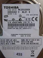 250GB Toshiba MK2552GSX HDD2H02 C WL01 S | LV010A  #455