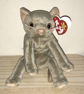 BNWT! TY Beanie Baby Scat The Kitten DOB May 27th 1998