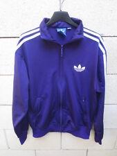Veste ADIDAS Trefoil rétro vintage violet sport tracktop jacket giacca S