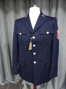 Vintage German Fireman Uniform Jacket Karlskron Fuerwehr Firefighter Formal Suit